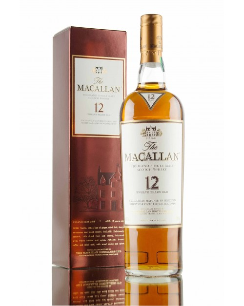 Macallan 12 Year Old Sherry Oak Single Malt Whisky