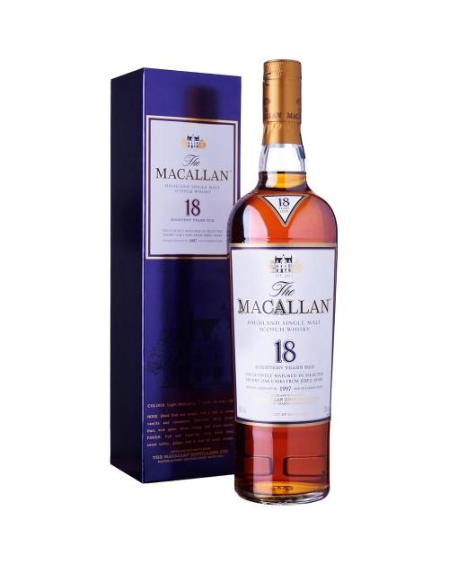 Macallan 18 Year Old Sherry Oak Single Malt Whisky