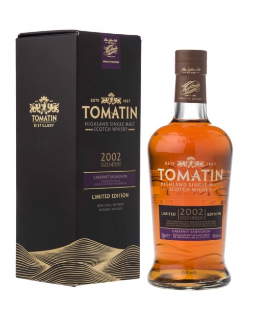 Tomatin 14 Year Old 2002 Cabernet Sauvignon Cask Single Malt Whisky