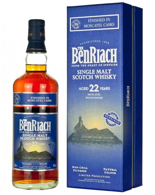 BenRiach 22 Year Old Moscatel Wood Finish Single Malt Whisky