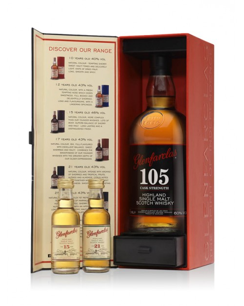 Glenfarclas 105 Gift Set With Two Miniatures