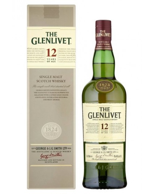 Glenlivet 12 Year Old Single Malt Whisky