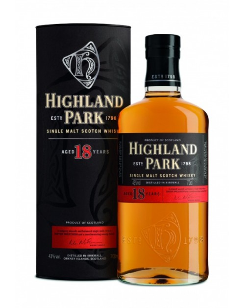Highland Park 18 Year Old Single Malt Whisky