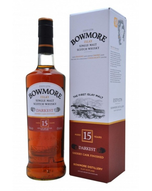 Bowmore Darkest 15 Year Old Single Malt Whisky