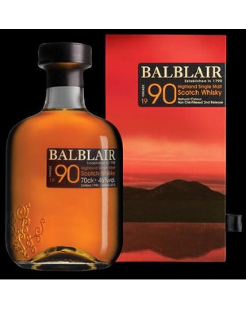 Balblair 1990 2nd Release Single Malt Whisky
