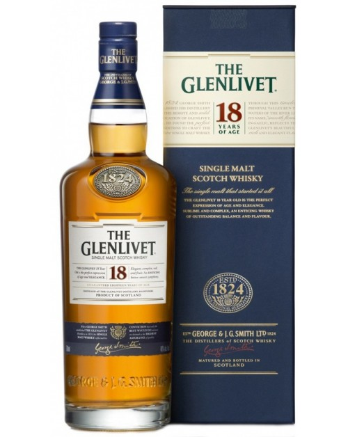 Glenlivet 18 Year Old Single Malt Whisky