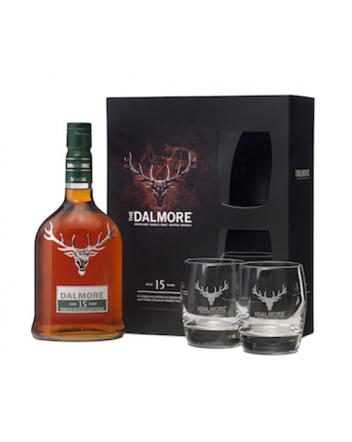 Dalmore 15 Year Old; Glass Gift Pack