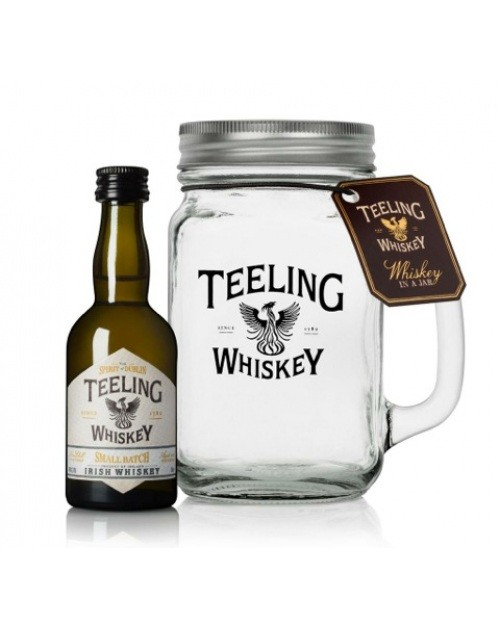 Teeling Whiskey Miniature In A Mason Jar