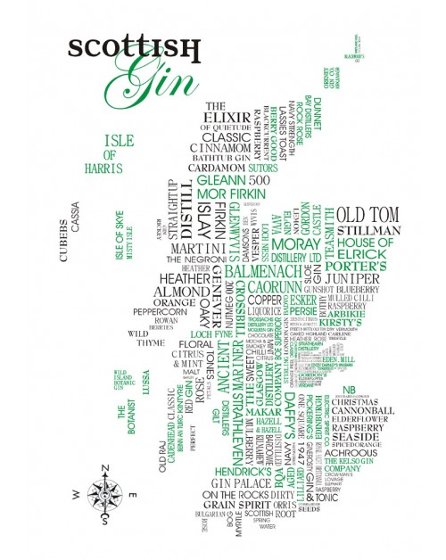 Scottish Gin Sat Nav Map